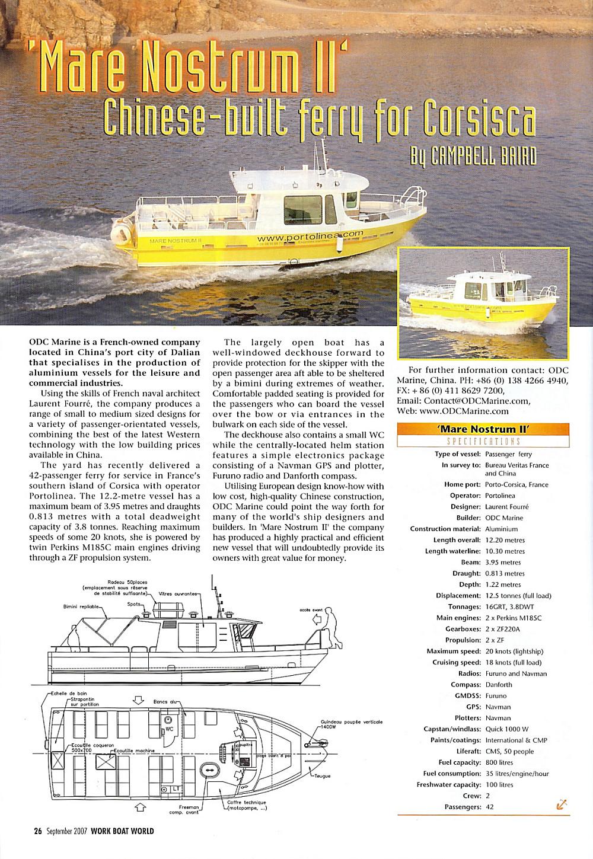 Baird Work Boat World (Mono 12 m 50 Pax Diesel)