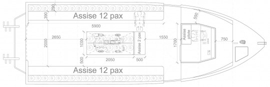 Plan Némo 10.4 m 25 pax
