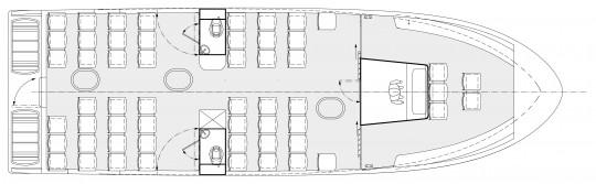 Plan 14 m 70 pax