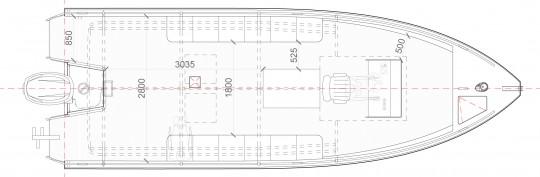 Plan Mono 8.8 m 19 pax