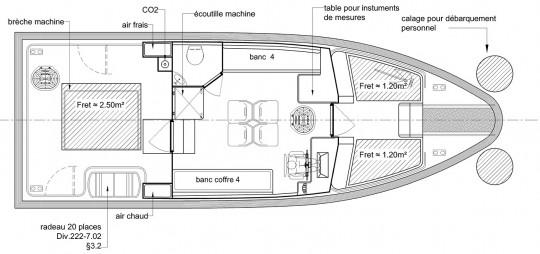 plan crewboat 10m 12 pax