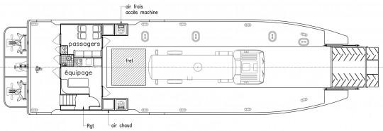 Plan Barge 22 m