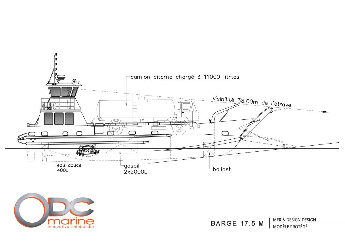 Barge 17 m