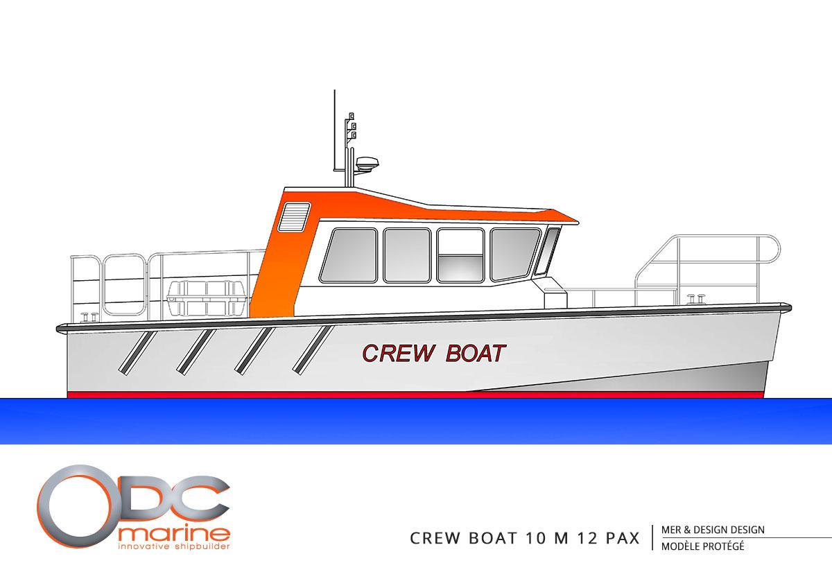 crewboat 10m 12 pax