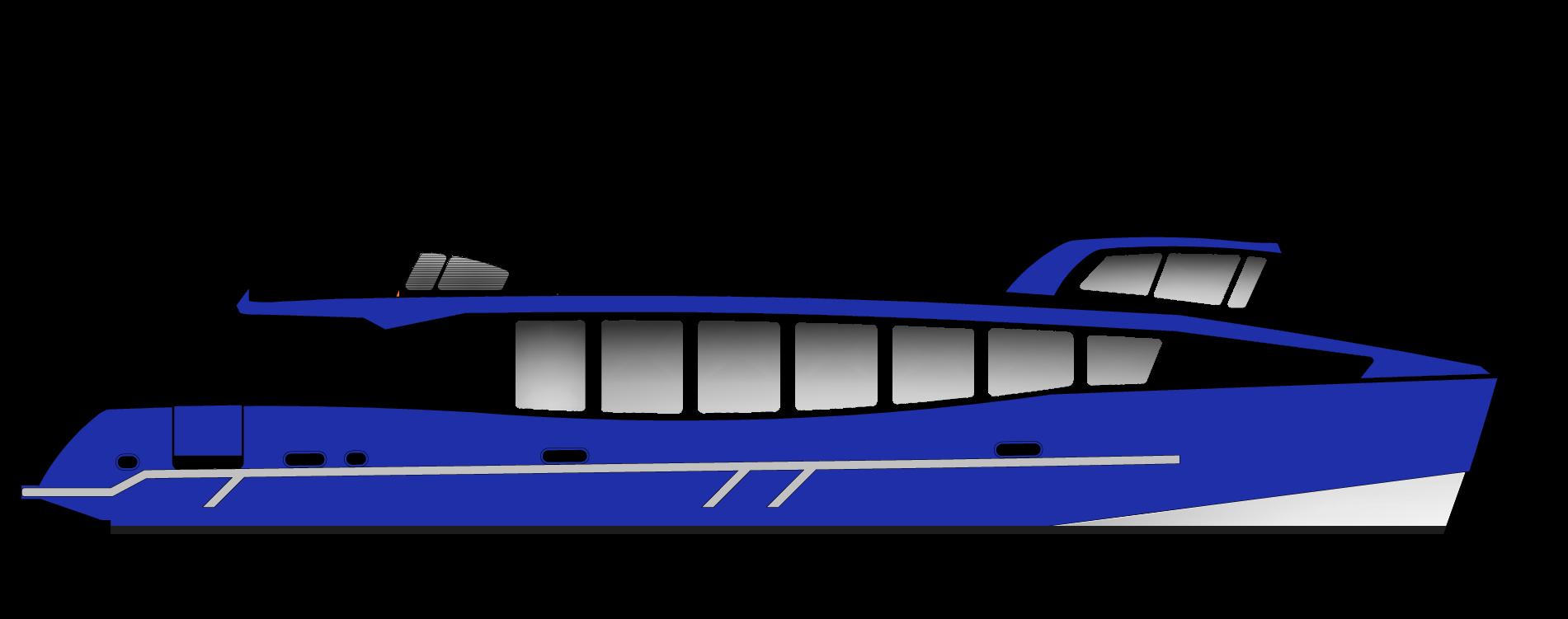 Vedette Passagers 18m 97 places - vue profil