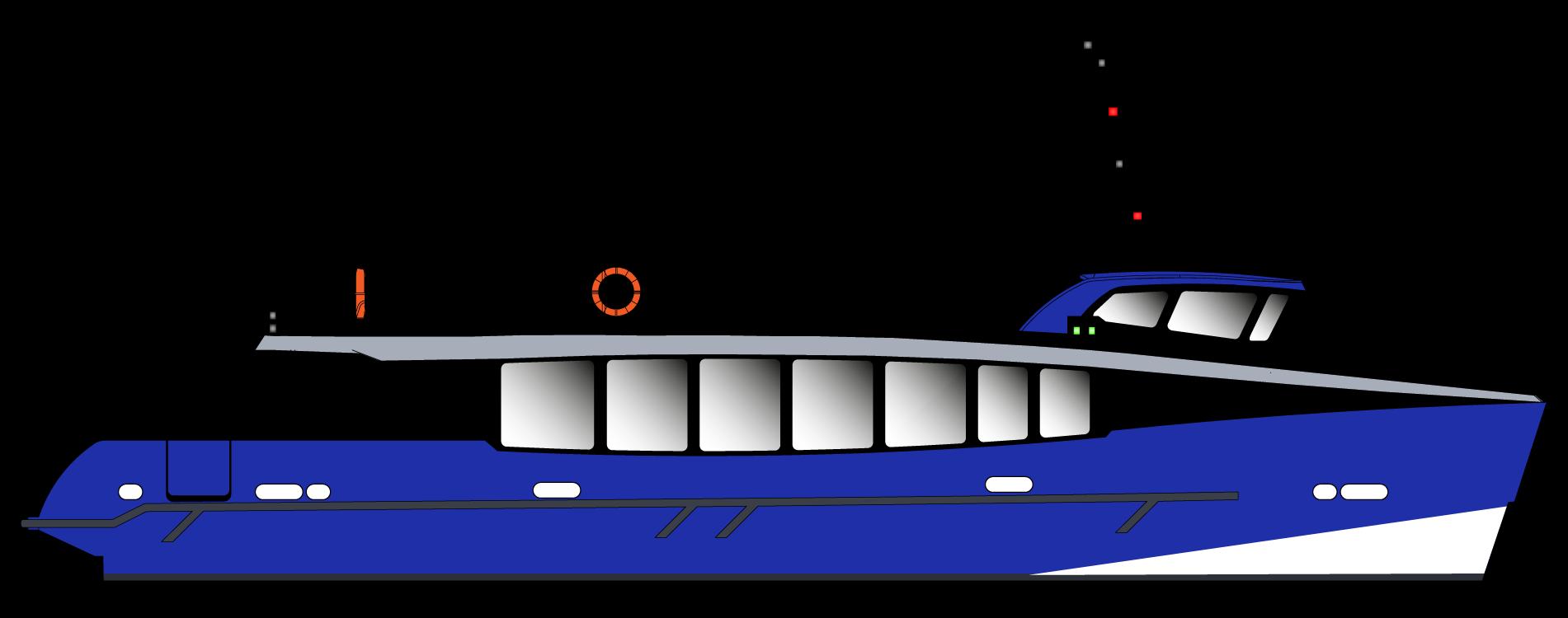 Vedette Passagers 20m 164 places - vue profil